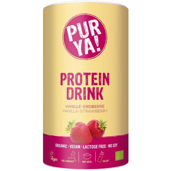 Purya Protein Drink Bio Vanille-erdbeere Pulver