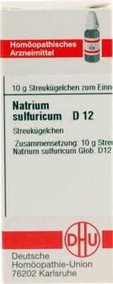 NATRIUM SULFURICUM D 12 Globuli