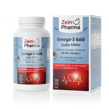 Omega-3 Gold Herz Dha 300mg/epa 400mg Softgelkaps.