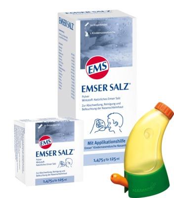 Emser Salz im Beutel 1,475g und Nasendusche Junior