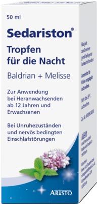Sedariston Tropfen für die Nacht Baldrian + Melisse