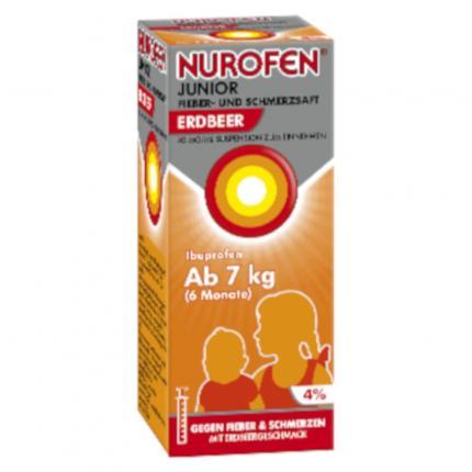 NUROFEN Junior Fieber- & Schmerzsaft Erdbeer 40mg
