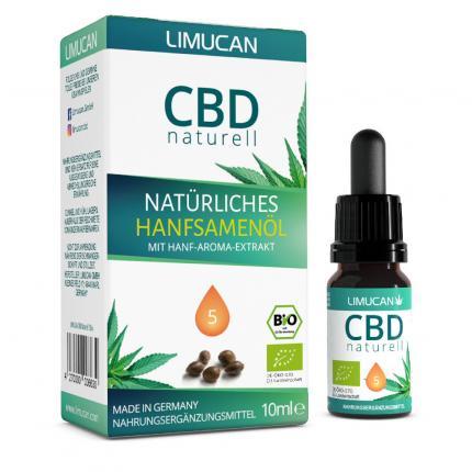 CBD Natürliches Hanfsamenöl 5% Limucan