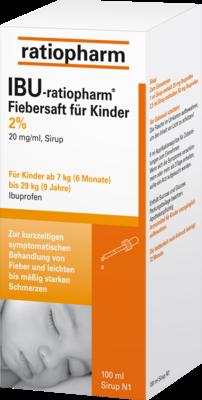 IBU-ratiopharm Fiebersaft für Kinder 20mg/ml