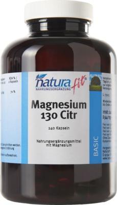 NATURAFIT Magnesium 130 Citr Kapseln