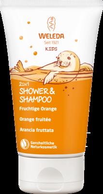 WELEDA Kids 2in1 Shower & Shampoo fruchtige Orange