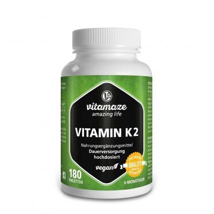 Vitamin K2 200 µg Hochdosiert Vegan Tabletten