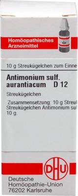 ANTIMONIUM SULFURATUM aurantiacum D 12 Globuli