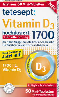 TETESEPT Vitamin D3 1.700 Tabletten