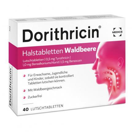 Dorithricin Halstabletten Waldbeere 0,5mg/1,0mg/1,5mg