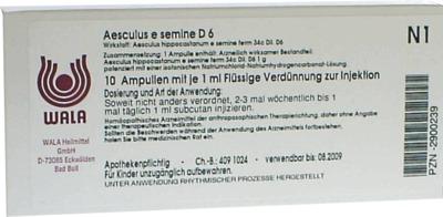 AESCULUS E semine D 6 Ampullen