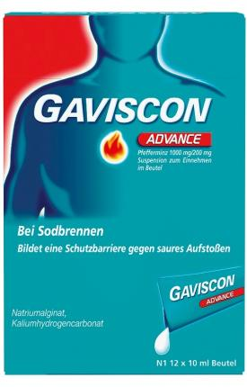Gaviscon Advance Pfefferminz 1000mg/200mg Dosierbeutel