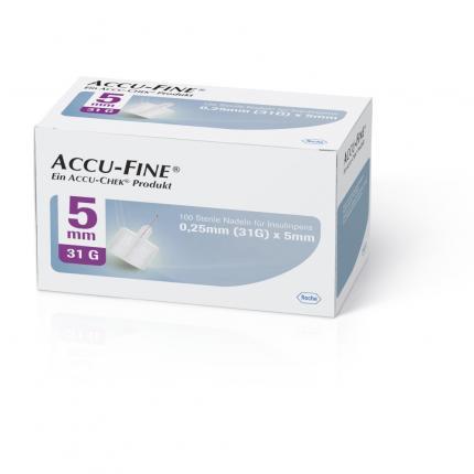 ACCU FINE sterile Nadeln f.Insulinpens 5 mm 31 G