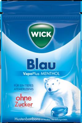 WICK BLAU Menthol Bonbons o.Zucker Beutel