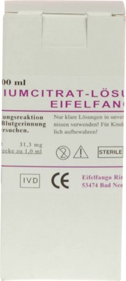 NATRIUMCITRAT-Lösung 3,13% Eifelfango