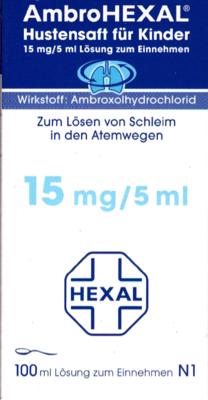 AmbroHEXAL Hustensaft für Kinder 15mg/5ml