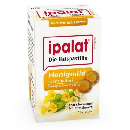 Ipalat Halspastillen Honigmild O.menthol Zuckerfr