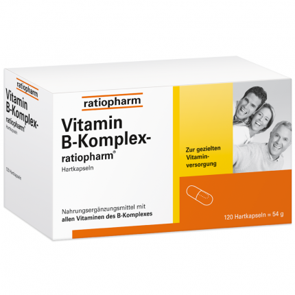 VITAMIN B Komplex ratiopharm Kapseln 120 Stück   medicaria