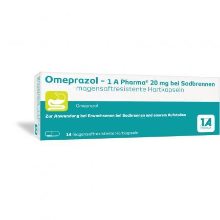 Omeprazol-1A Pharma 20mg bei Sodbrennen