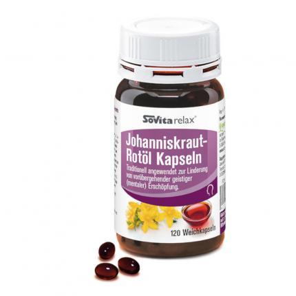 Sovitarelax Johanniskraut-Rotöl Kapseln