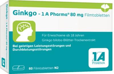 GINKGO 1A Pharma 80 mg Filmtabletten