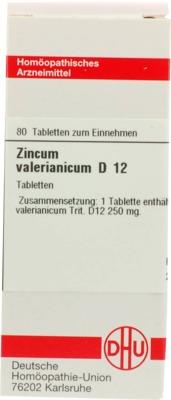 ZINCUM VALERIANICUM D 12 Tabletten
