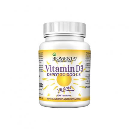 Vitamin D3 Depot 20.000 I.e. Vegan Tabletten