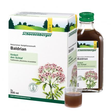 Baldrian naturreiner Heilpflanzensaft Schoenenberger