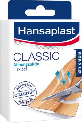 Hansaplast CLASSIC Atmungsaktiv 2m x 6cm