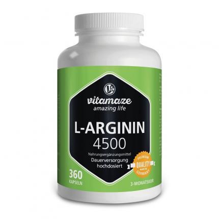 L-arginin Hochdosiert 4.500 mg Kapseln