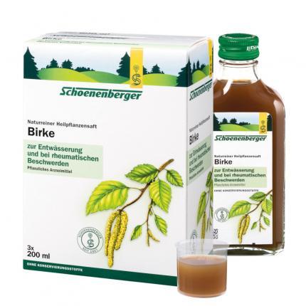 Birke naturreiner Heilpflanzensaft Schoenenberger