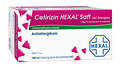 Cetirizin HEXAL bei Allergien 1mg/ml