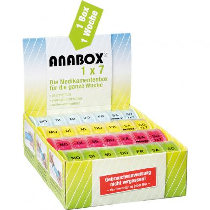 ANABOX 1x7 bunt Deckel klar