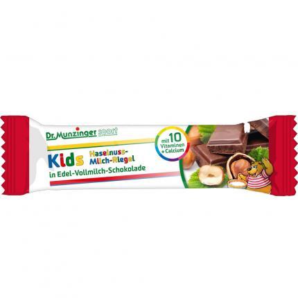 DR.MUNZINGER Riegel Kids-Haselnuss-Milch