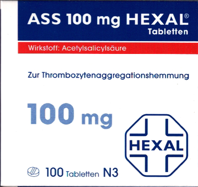 ASS 100mg HEXAL