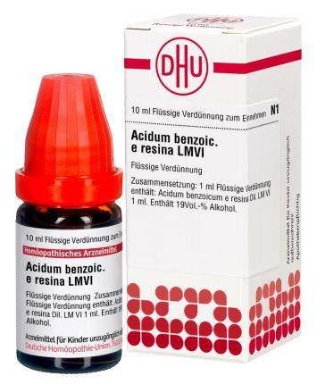 LM ACIDUM benzoicum e resina VI Dilution