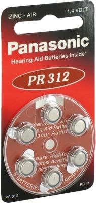 BATTERIEN für Hörgeräte Panasonic PR312