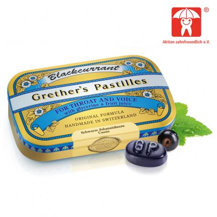 Grethers Pastilles Blackcurrant Gold Dose