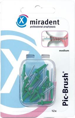 miradent Pic-Brush medium Ersatzbürste grün