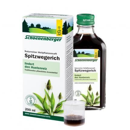 Spitzwegerich naturreiner Heilpflanzensaft Schoenenberger
