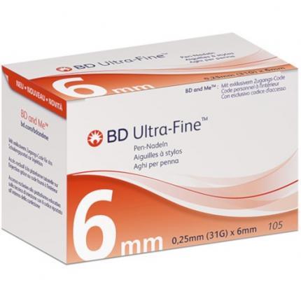 Bd Ultra-fine Pen-nadeln 6 mm 31 G