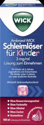 Ambroxol WICK Schleimlöser für Kinder 3mg/ml Lsg.z.Einn.