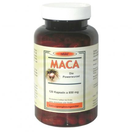 MACA Kapseln 850 mg Macawurzelpulv.a.Ökoanbau