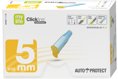 MYLIFE Clickfine AutoProtect Pen-Nadeln 5 mm 31 G