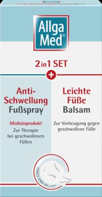ALLGA MED 2in1 Set Anti-Schwel.Fußspr.+lei.Fü.Bal.