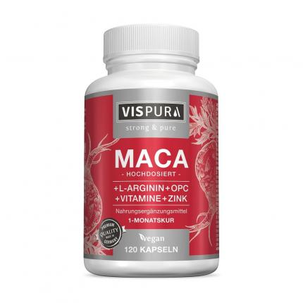 MACA 10:1 HOCHDOSIERT+L-Arginin+OPC+Vitamine vegan
