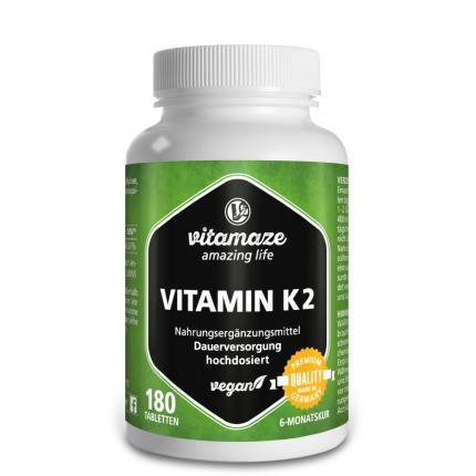 VITAMIN K2 200 µg hochdosiert vegan