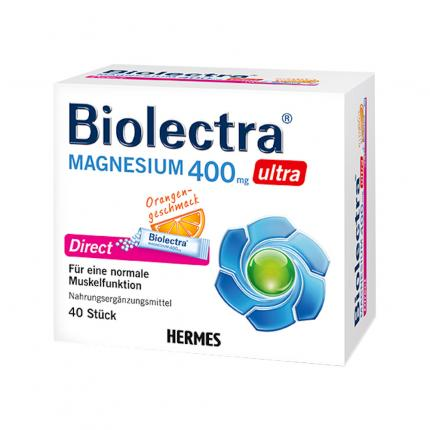 BIOLECTRA Magnesium 400 mg ultra Direct Orange
