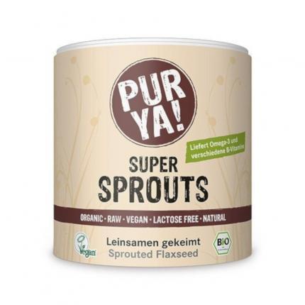Purya Super Sprouts Bio Leinsamen Gekeimt Pulver