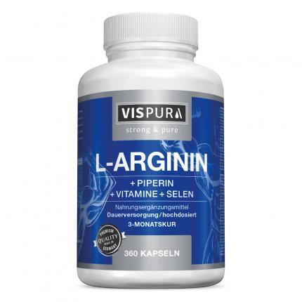 L-ARGININ 750 mg hochd.+Piperin+Vitamine